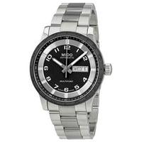 Mido Multifort 42mm Black Dial Stainless Steel Bracelet Men's Watch