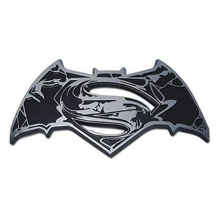 Many Auto Accessories - Superman/ Batman (Distressed) Chrome Auto Emblem