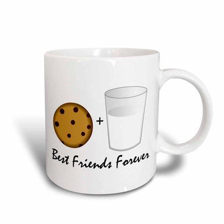 3dRose Cute Cartoon Milk and Cookies - Best Friends Forever, Ceramic Mug, - Milk Carton Halloween Crafts