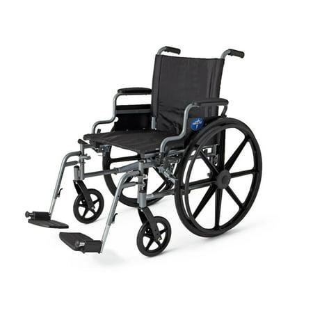 Medline K4 Extra-Wide Lightweight Wheelchair, 22