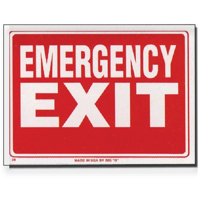 Bazic Products L-28-24 12 inch x 16 inch Emergency Exit Sign - Box of 24