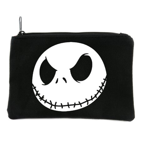 Evil Grin Jack Skellington Face Cosmetic Makeup Bag Pouch Nightmare Before Christmas for $<!---->