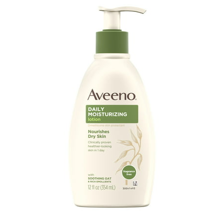 Sandalwood Moisturizing Body Lotion (Aveeno Daily Moisturizing Lotion with Oat for Dry Skin, 12 fl. oz)
