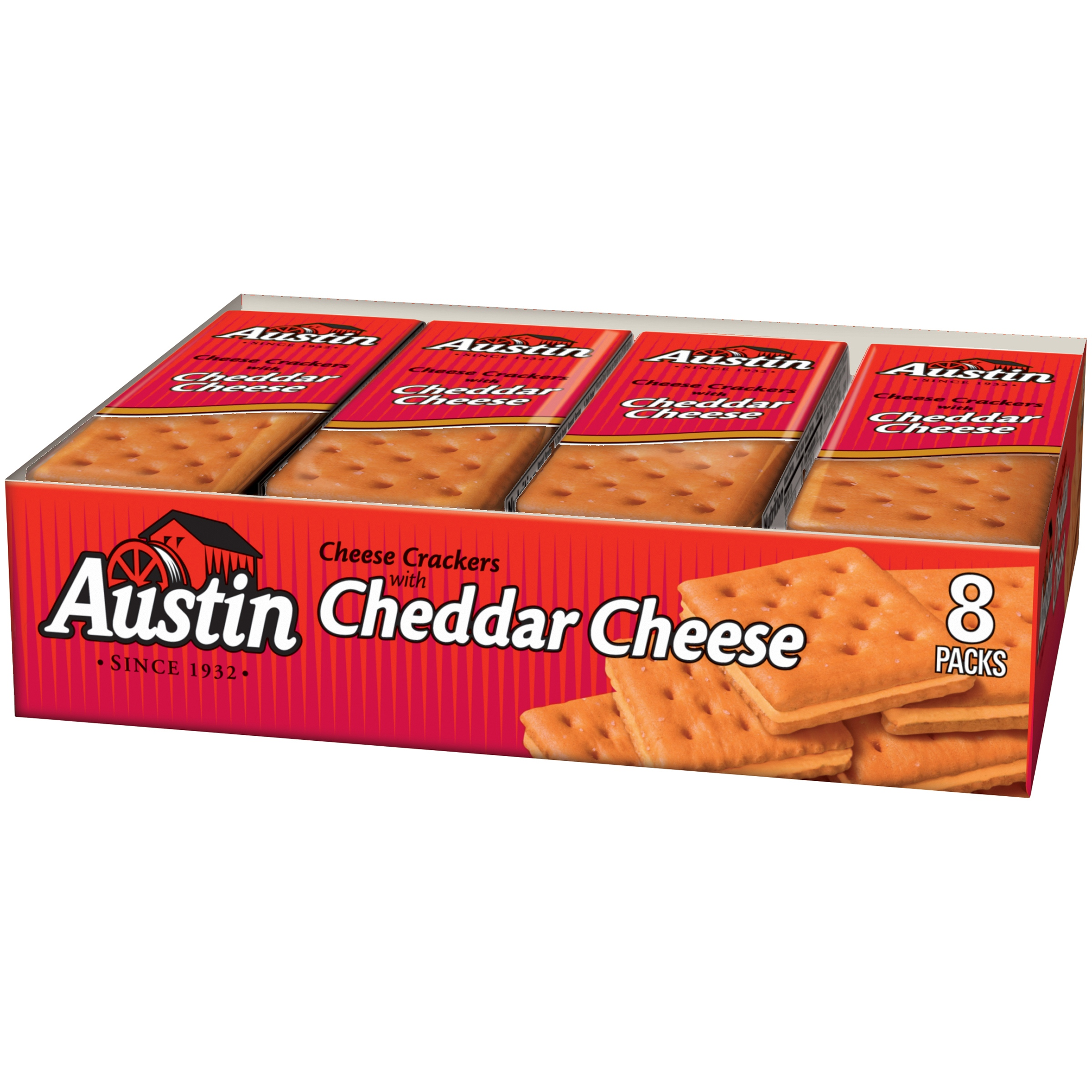 Austin Cheese Crackers with Cheddar Cheese, 1.38 oz 8 count by Kellogg Sales Co.