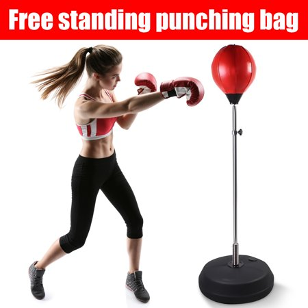 Adjustable Boxing Train Speed Ball Free Standing Punching Bag Trainer MMA Fitness Training Gloves Home Gym Christmas Gift for your