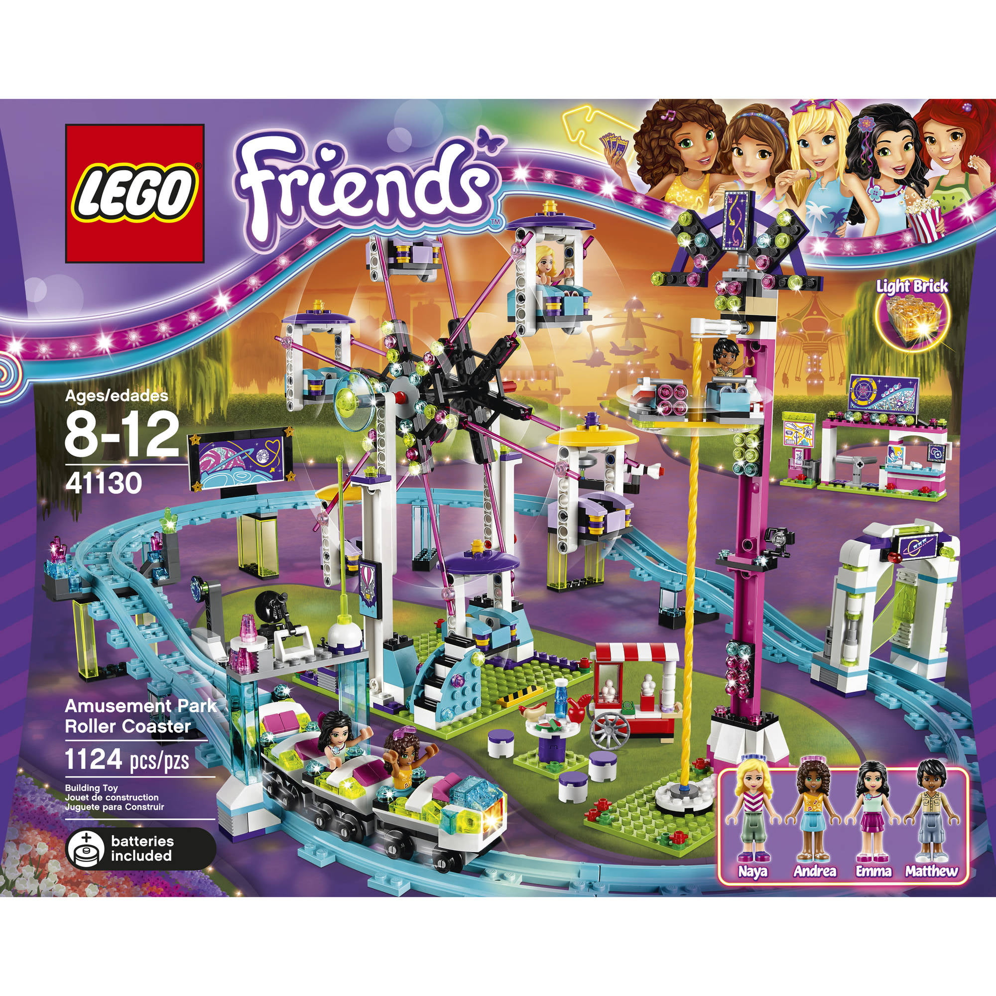 LEGO Friends Amusement Park Roller Coaster Toy KIDS Play Game For Girls Boys