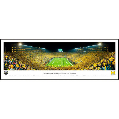NCAA University of Michigan by James Blakeway Standard Framed Photographic Print