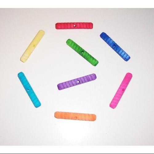 "Colored Twisted Wood Logs Bird Toy Parrots Parts Large 3"" 18pcs"