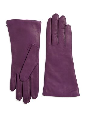 Cashmere & Leather Mid-Length Gloves