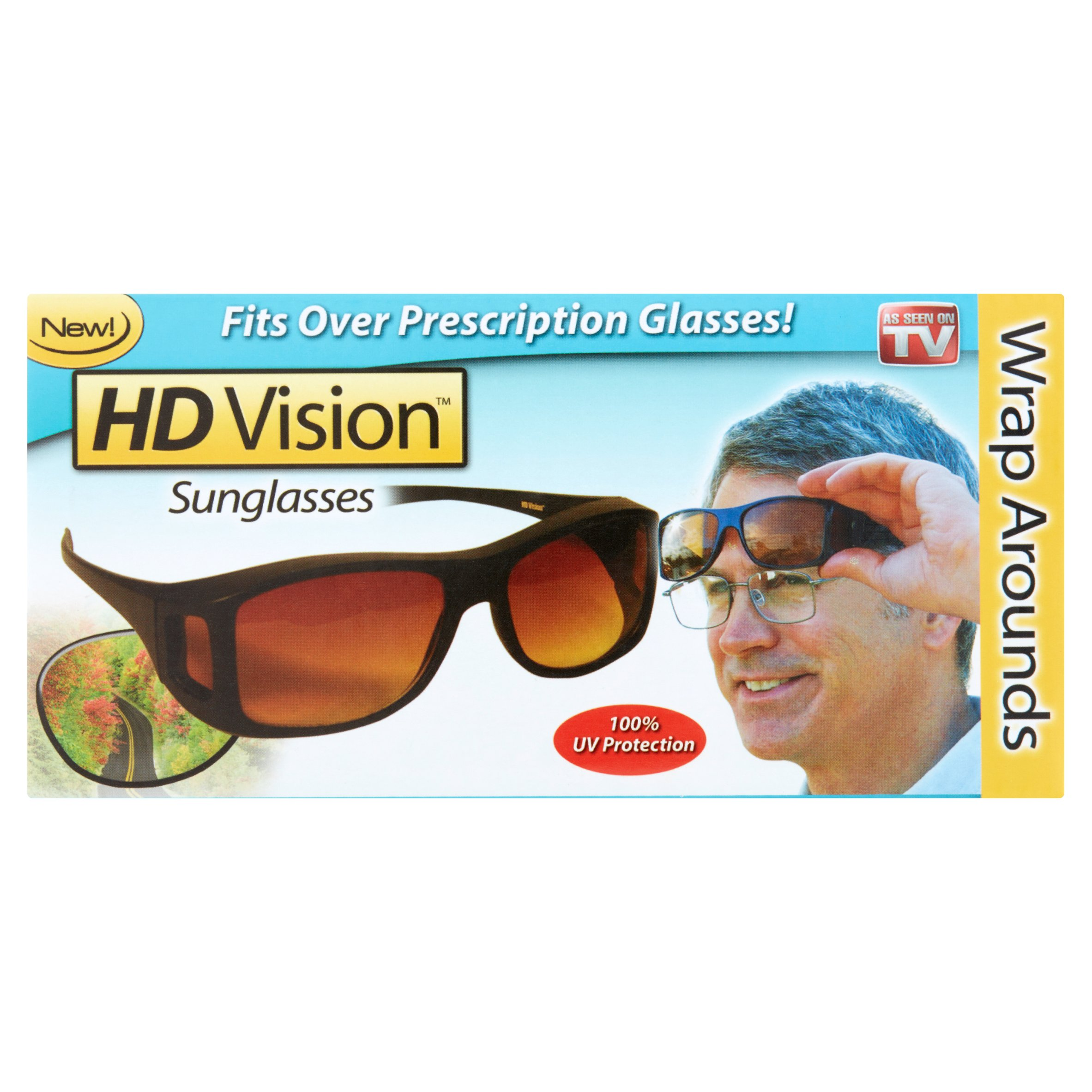 As Seen on TV HD Vision Wrap Around Sunglasses