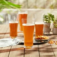 Libbey Indoors Out Break-Resistant Craft Brews Pilsner Beer Glasses, 20-ounce, Set of 4