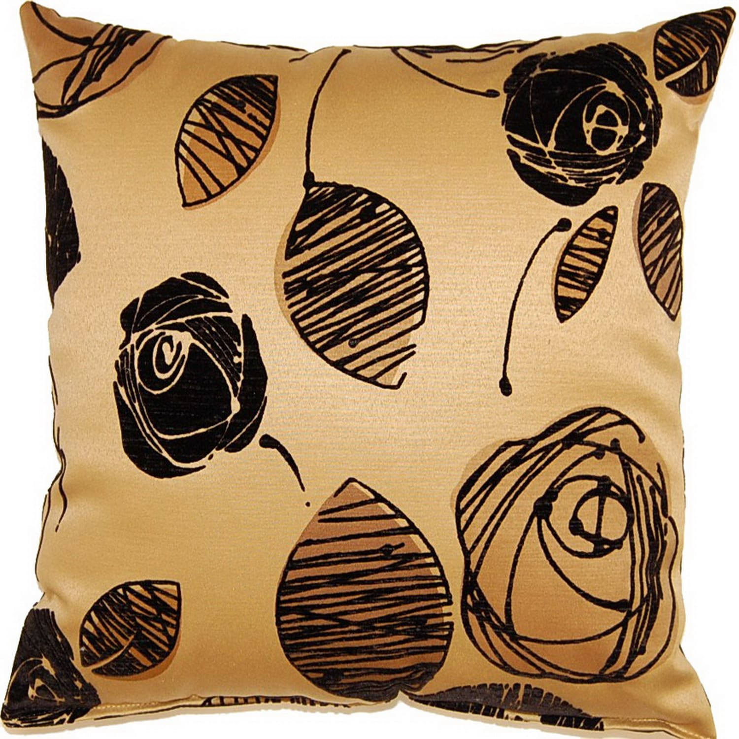Fox Hill Trading Tory Gold 19-inch Throw Pillows (Set of 2)