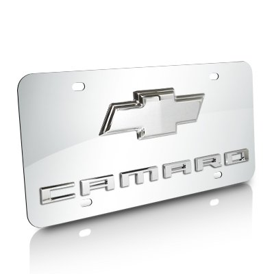 Chevrolet Logo 2010 up Camaro Chrome Steel License Plate