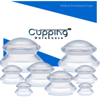 Supreme 8 -Professional & Home Users Silicone Massage Cupping Therapy Set : Written Instructions & Online Video: Cupping Warehouse TM, Chinese, Cellulite, Muscle Spasm Pain, Trigger Point +More