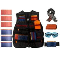 Tactical Vest for Nerf Guns N-Strike Elite Series + Accessories Bundle.
