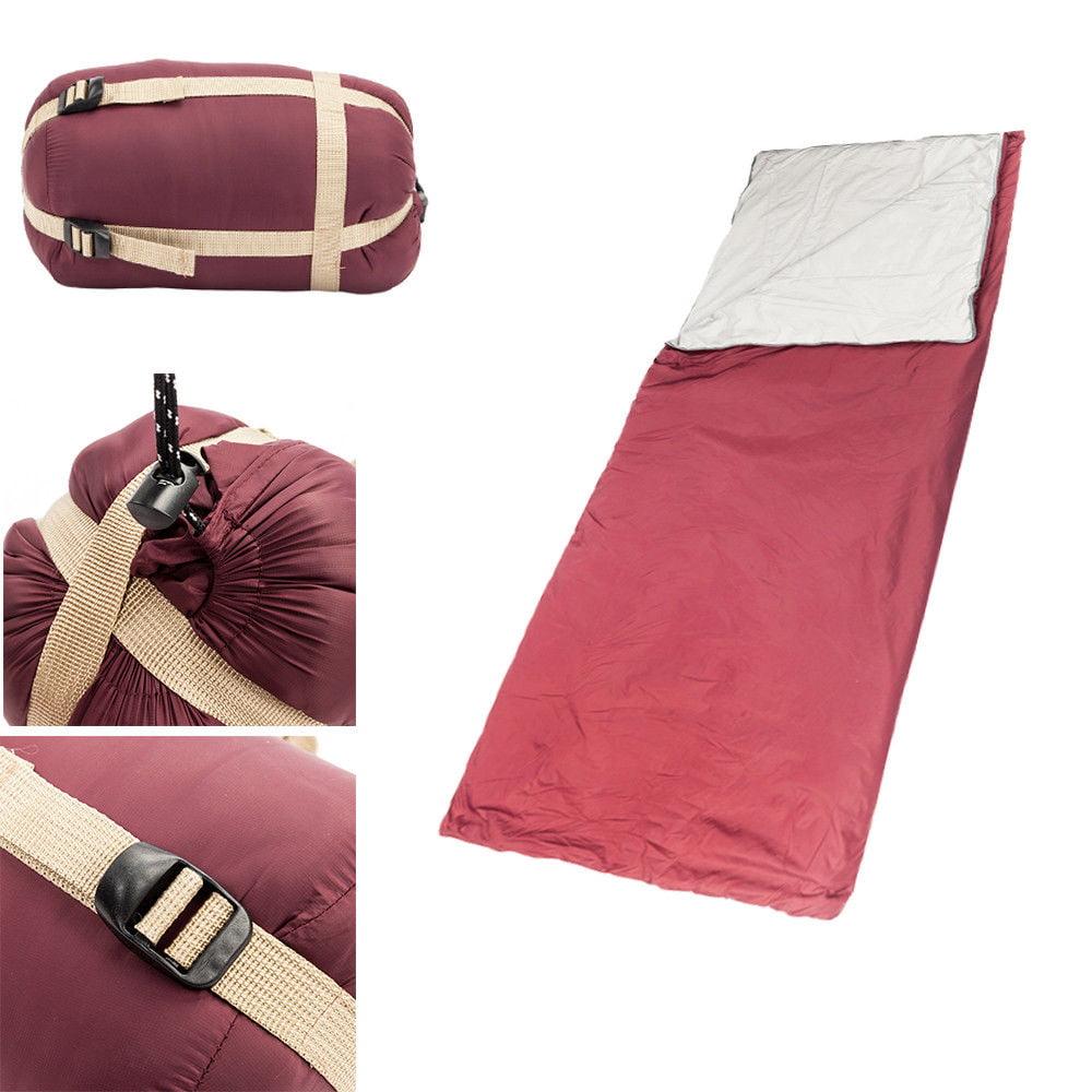 "GHP 74.8""x29.53"" Wine Red 380T Nylon Polyester Pongee Single Envelope Sleeping Bag"