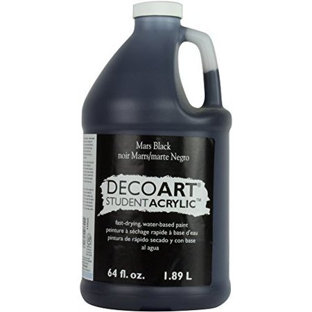 DECO ART STU2167 STUDENT ACRYLIC 1/2 GALLON MARS - Art Deco Black Glass
