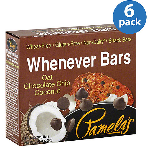 Pamela's Products Oat Chocolate Chip Coconut Whenever Bars, 7.05 oz, (Pack of 6)