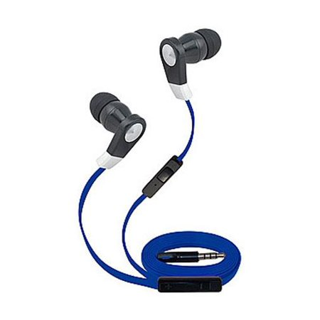 Super High Clarity 3.5mm Stereo Earbuds/ Headphone Compatible with Samsung Galaxy S10, S10+, Fold, S10e, S10 5G, A70 A50 A40 A30, M20,Xcover 4s (Blue) - w/ Mic & Volume Control + MND (Supra Folding Headphone)