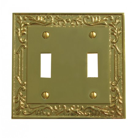 Victorian Switch Plate Double Toggle PVD Solid Brass