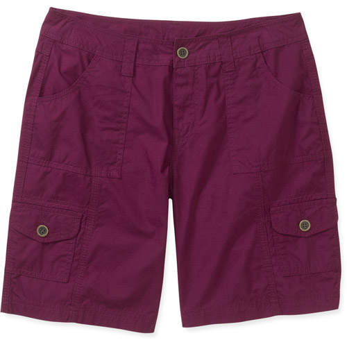 "Faded Glory Women's Slim Leg 9.5"" Cargo Shorts"