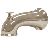 Danco 10316 Tub Spout, 6 in L, Metal, Brushed Nickel ()