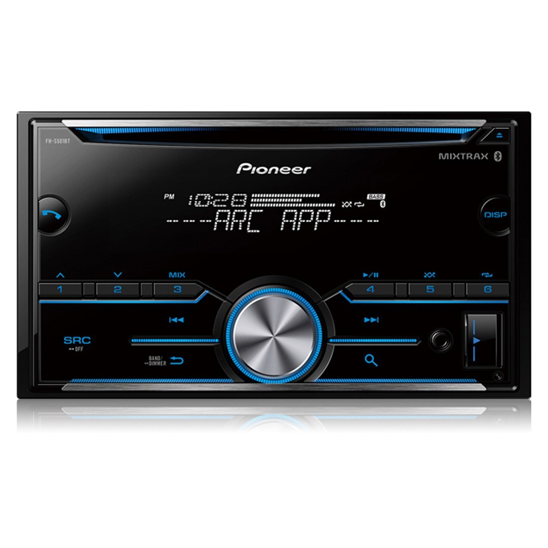 Refurbished Pioneer FH-S501BT Bluetooth Double Din Sized Receiver