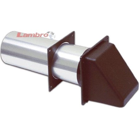 Lambro 222BS 3 in. Brown Plastic Preferred Hood Vent with Tail Piece & Removable Screen, Sleeve - Pack of 12 - image 1 of 1