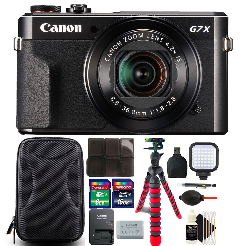 Canon PowerShot G7 X Mark II Digital Camera with 24GB Accessory Bundle
