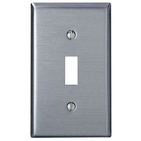 Leviton 84001-40 1-Gang Toggle Device Switch Wallplate, Standard Size, Device Mount, Stainless (Switch Mounting Plate)