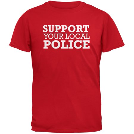 Support Your Local Police Red Adult T-Shirt (Local Adult Stores)