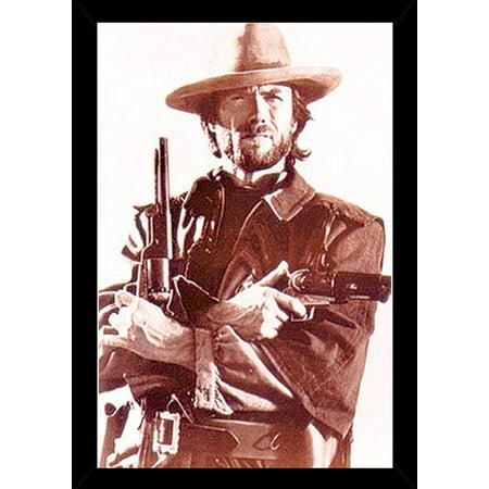 Clint Eastwood Poster in a Black Wood Frame (24x36) - Walmart.com