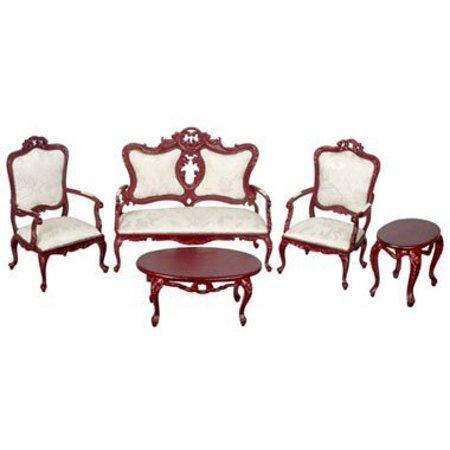 Dollhouse Fancy Victorian Living Room Set/4/M