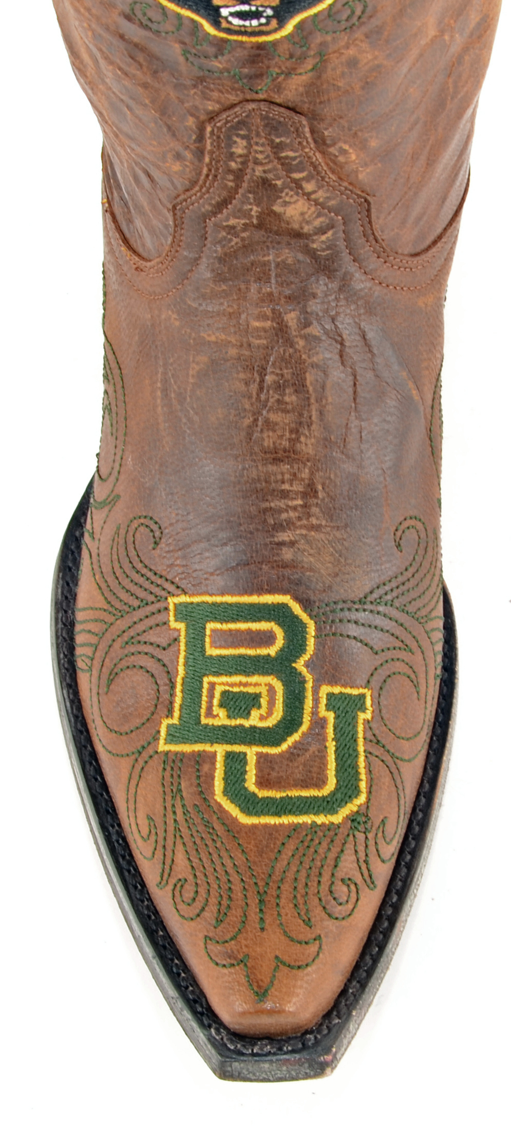 """Gameday Leather Boots Women's 10"""" Short Leather Gameday Baylor Cowboy Boots 3822 NEW accc9c"""