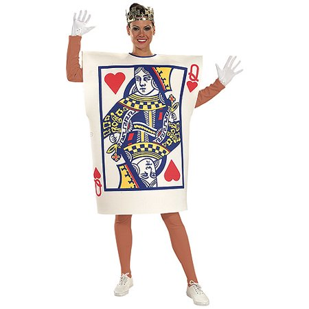 Queen of Hearts Adult Halloween Costume - Prom Queen Halloween Costume Uk