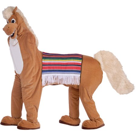 Horse 2 Mascot Adult Halloween Costume, Size: Men's - One Size - Homemade Halloween Costumes For Horses