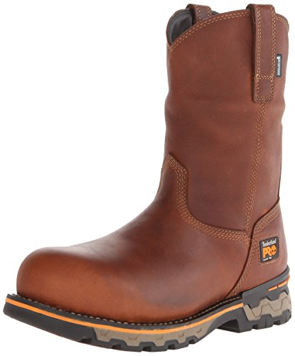 Timberland PRO Men's AG Boss Pull-On Alloy Toe WP Work and Hunt Boot, Red Bro... by Timberland PRO