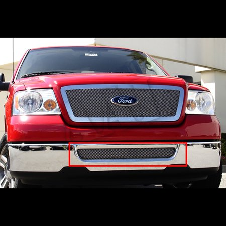 2005 Ford F150 Bumper - AAL Polished Mesh Grille / Grill Insert For 2004 2005 FORD F-150 F150 BUMPER INSERT 1 PC