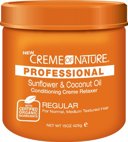 Cream of Nature Organic No Base Relaxer 15 oz. - Regular 15 oz. (Pack of 6)