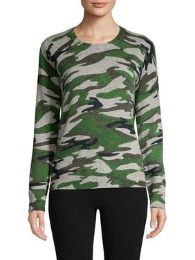 Camo-Print Cashmere Pullover