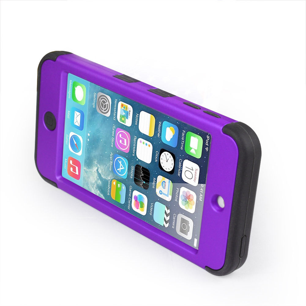 LIVEDITOR Heavy Duty Shock Proof Case Cover for Apple iPod Touch 6G 5th Generation(Purple) - image 2 of 6