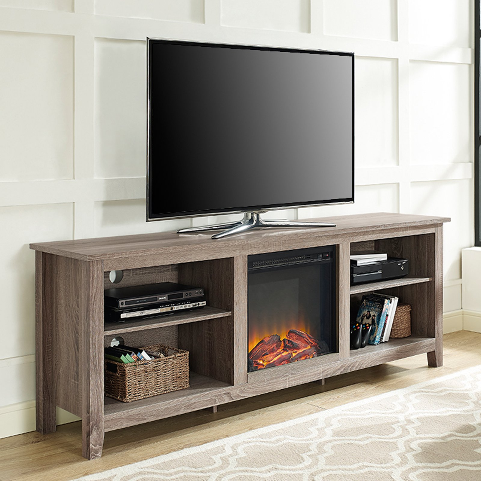 Belham Living Richardson 70 In Fireplace Tv Stand Walmart Com