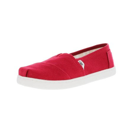 Red Canvas Shoes (Toms Classic Canvas 2.0 Red Ankle-High Slip-On Shoes -)