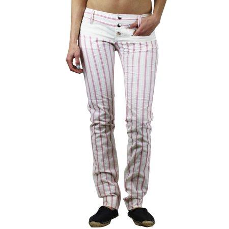CUSTO BARCELONA Women's Eva Pink Pinstripe Pants 293045