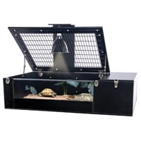 Penn Plax The Reptology 75-Gallon Tortoise Palace Habitat with Wire Top