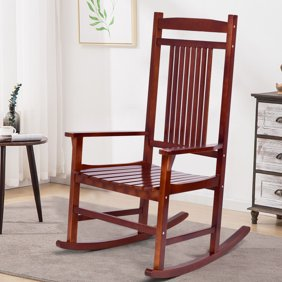 Prime Better Homes Gardens Ridgely Slat Back Mahogany Rocking Gamerscity Chair Design For Home Gamerscityorg