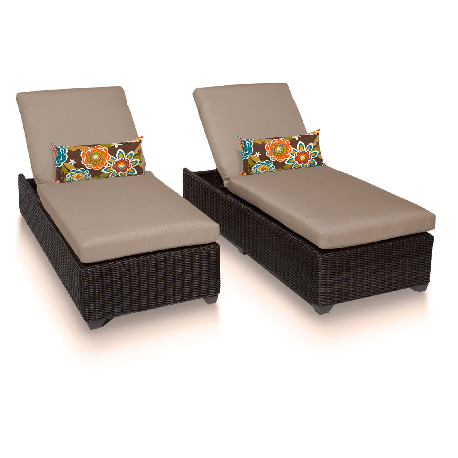 rustico chaise set of 2 outdoor wicker patio furniture