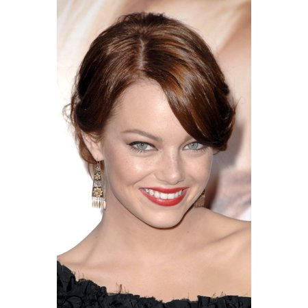 Emma Stone At Arrivals For Premiere Of The House Bunny Canvas Art     16 X 20
