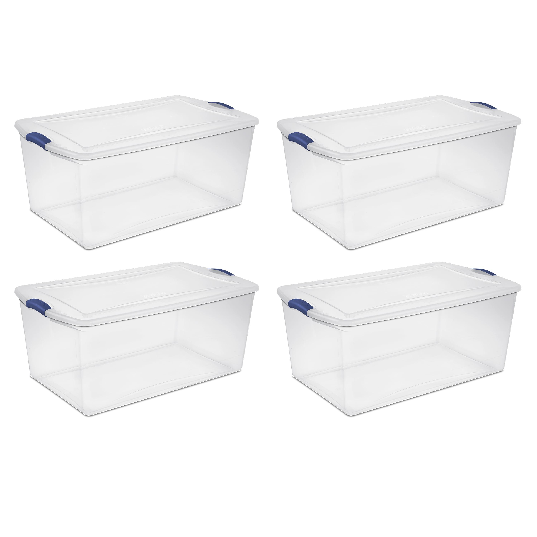 sterilite, 105 qt./99 l latch box, case of 4 - walmart