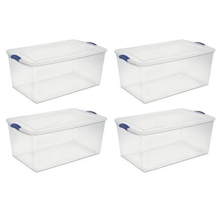 Sterilite, 105 Qt./99 L Latch Box, Case of 4